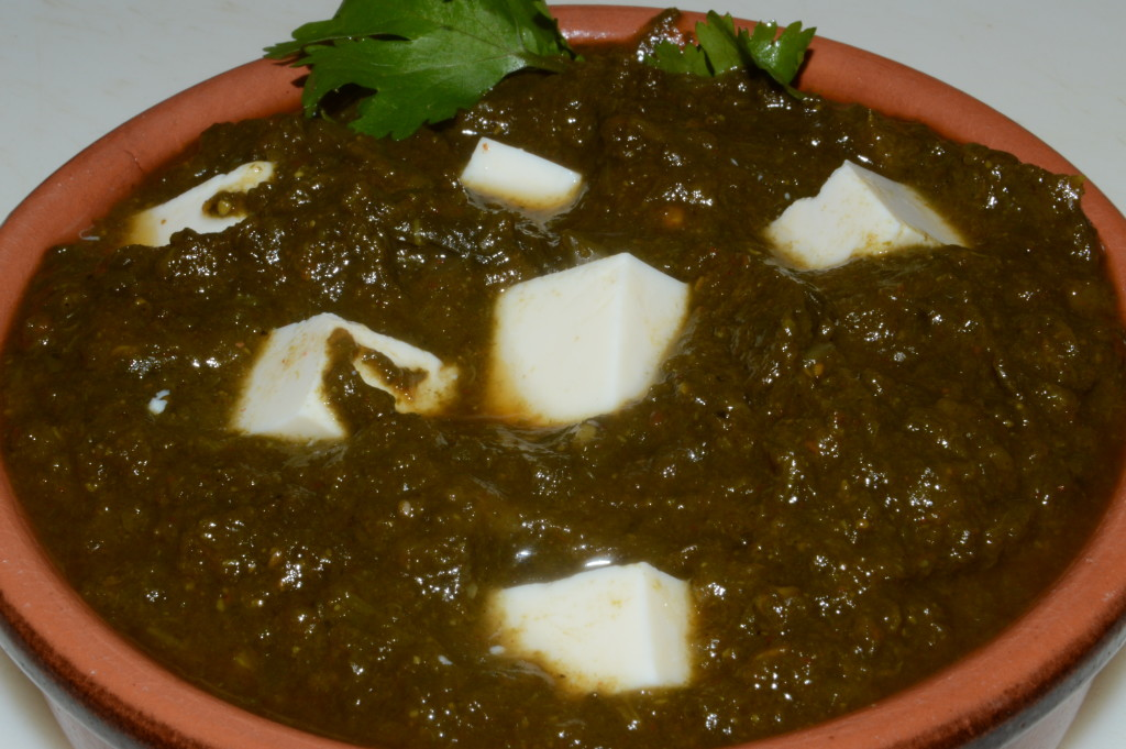 Palak Paneer - finished product.