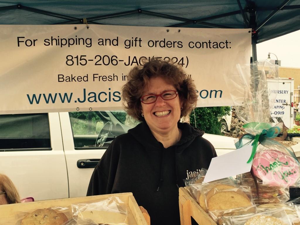 Jaci Krandell, owner of Jaci's Cookies and Woodstock's own cookie maker par excellence!