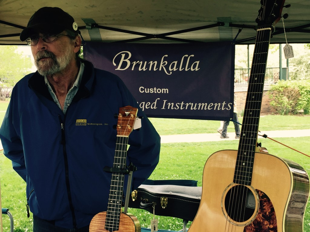 Would you believe our very own luthier? Marty Brunkalla makes highly prized handmade stringed instruments and is an amazing musician.