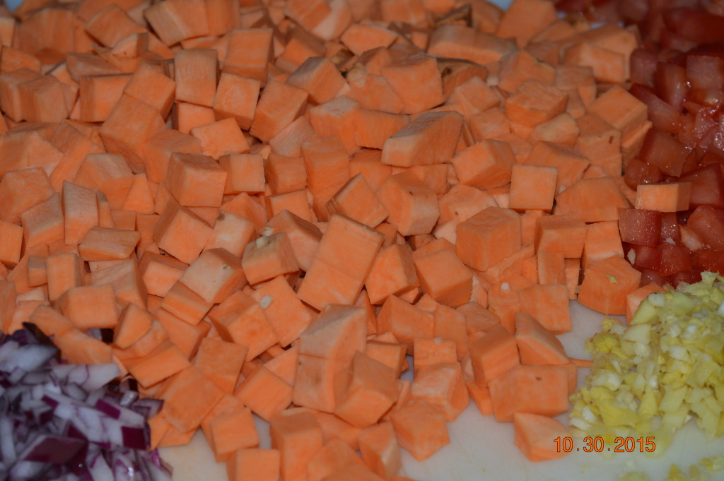 Moroccan Sweet Potatoes - the prep